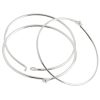SS.925 Beading Hoops 24mm Od.029in/.7mm Wire Aprx 3.40gm